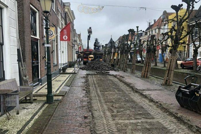 Nieuwe bestrating Elburg Vesting