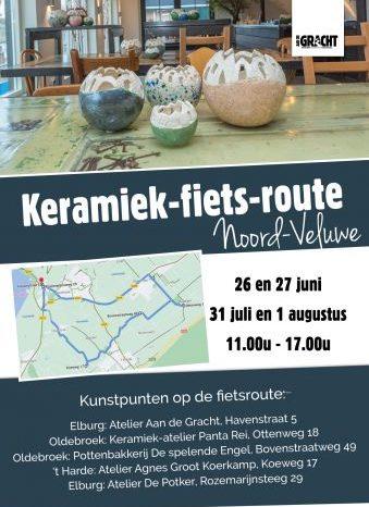 Keramiek-fietsroute: Elburg- Oldebroek- 't Harde