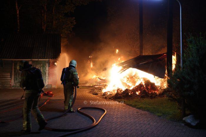 Drie schuurbranden binnen 600 meter van elkaar in buitengebied bij Oldebroek