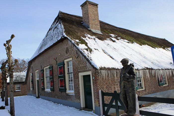 Boerderijmuseum in wintersfeer