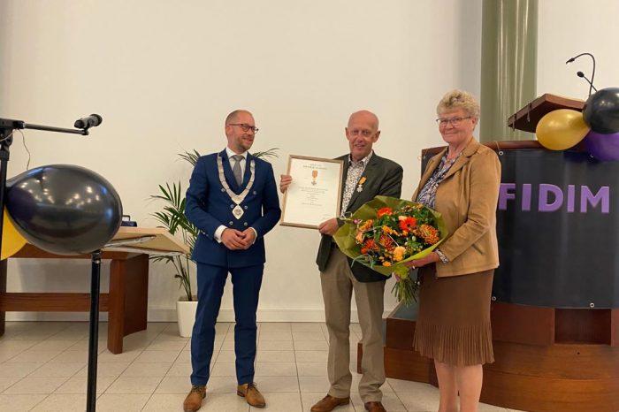 Uitreiking Koninklijke onderscheiding aan Herman Witter
