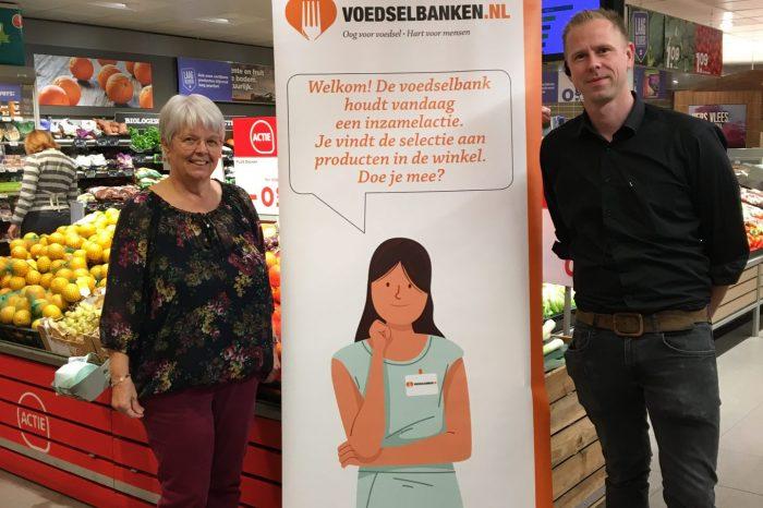 Inzameling voor Voedselbank bij Plus in Elburg en Wezep